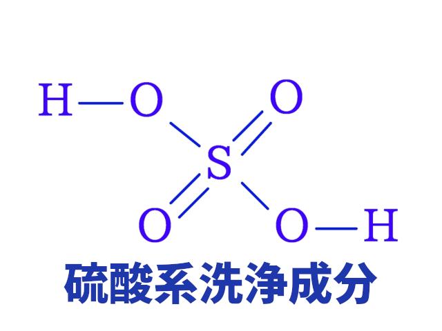 硫酸系洗浄成分
